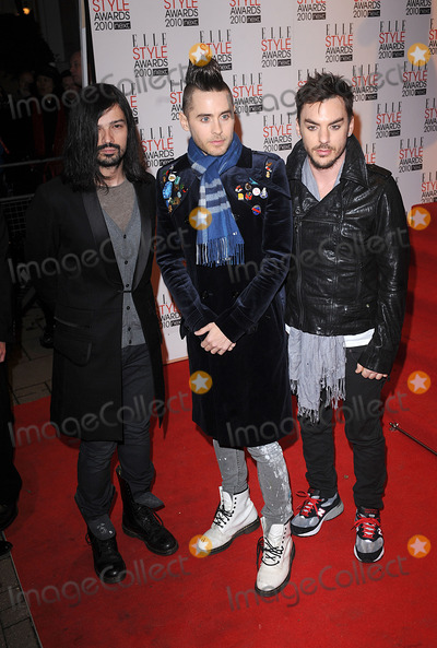 30 Seconds to Mars Photo - London UK Tomo Milicevic Jared Leto and Shannon Leto  of 30 Seconds To Mars at the Elle Style Awards 2010 held at the Grand Connaught Rooms in Great Queen Street 22 February 2010Eric BestLandmark Media