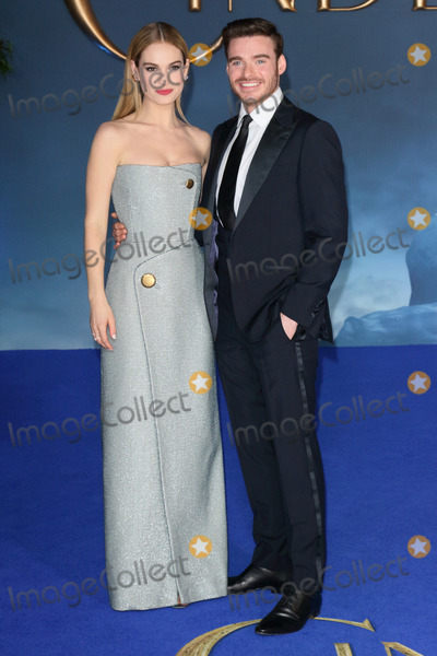 Cinderella Photo - London UK Richard Madden and Lily James at the UK Premiere of Cinderella at Odeon Leicester Square London on March 19th 2015Ref LMK73-50753-200315Keith MayhewLandmark Media WWWLMKMEDIACOM