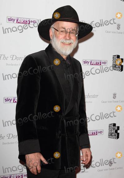 Terry Pratchett Photo - London UK Sir Terry Pratchett at the South Bank Sky Arts Awards arrivals at the Dorchester Hotel Park Lane 1st May 2012Keith MayhewLandmark Media