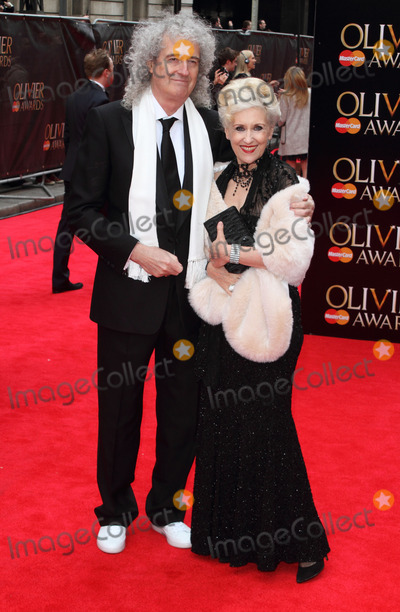 Anita Dobson Photo - London UK Brian May and Anita Dobson at The Olivier Awards 2013 at the Royal Opera House Covent Garden 28th April 2013Keith MayhewLandmark Media