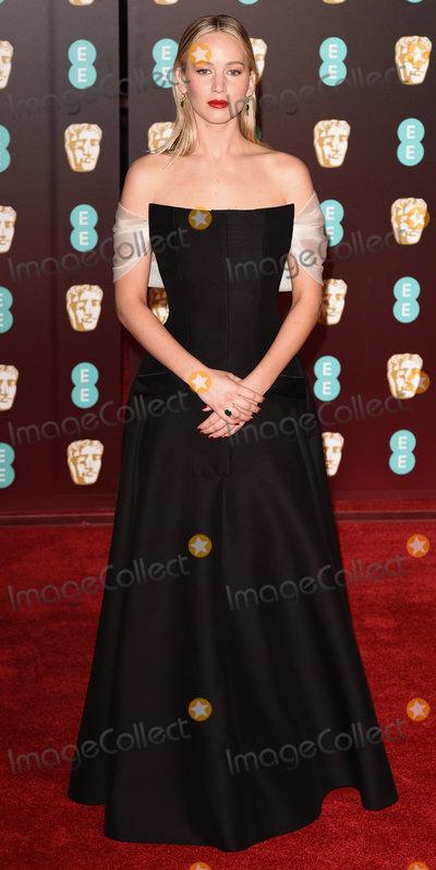 Jennifer Lawrence Photo - London UK Jennifer Lawrence at The EE British Academy Film Awards held at The Royal Albert Hall on Sunday 18 February 2018 Ref LMK392 -J1596-190218Vivienne VincentLandmark Media WWWLMKMEDIACOM