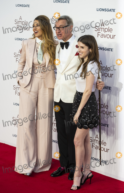 Anna Kendrick Photo - London UK Blake Lively Paul Feig and Anna Kendrick  at the UK Premiere of A Simple Favor at the BFI Southbank on the 17th September 2018 in London England UK  Ref LMK386-J2620-180918Gary MitchellLandmark MediaWWWLMKMEDIACOM