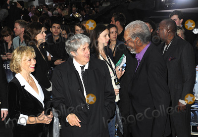 TOM CONTI Photo - London UK Tom Conti  and Morgan Freeman at the European premiere of The Dark Knight Rises held at Leicester Square 18th July 2012SydLandmark Media