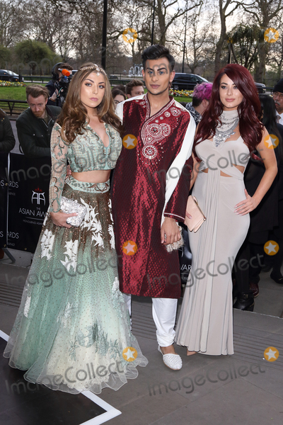 Abi Clarke Photo - London UK Abi Clarke Junaid Ahmed and Jessica Hayes at the Asian Awards 2016 Grosvenor House Hotel Park Lane 8th April 2016 Ref LMK73-60215-090416Keith MayhewLandmark Media WWWLMKMEDIACOM