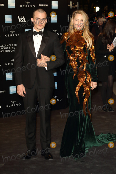 Aimee Mullins Photo - London UK Rupert Friend and Aimee Mullin at Alexander McQueen Savage Beauty Fashion Benefit Dinner at the Victoria and Albert Museum Kensington London on the 12th March 2015Ref LMK73-50697-031315Keith MayhewLandmark Media WWWLMKMEDIACOM