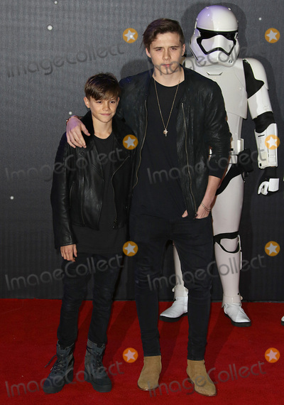 Brooklyn Beckham Photo - LondonUK Romeo Beckham and  Brooklyn Beckham at the Star Wars The Force Awakens - European Premiere at Leicester Square  16th December 2015Ref LMK394-59064-171215Brett D CoveLandmark Media WWWLMKMEDIACOM