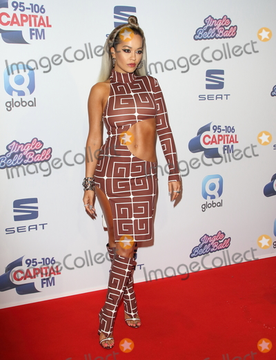 Rita  Ora Photo - London UK   Rita Ora    at Capitals Jingle Bell Ball The O2 London  7th December 2019 Ref LMK73-S2645-081219Keith MayhewLandmark MediaWWWLMKMEDIACOM