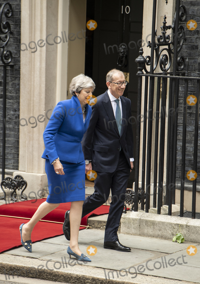 Theresa May Photo - LondonUK  Prime Minister Theresa May and husband Philip May welcome US President Donald Trump and First Lady Melania Trump to 10 Downing street for a meeting on the second day of the US President and First Ladys three-day State visit4 June 2019Ref LMK386-MB3000-040619Gary Mitchell  Landmark Media WWWLMKMEDIACOM