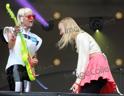 Alice Go Photo - London UK  Alice Go and Rakel Mjll  of Dream Wife performing live on stage during the All Points East Festival at Victoria Park in London 25th May 2019 RefLMK73-2480-260519Keith MayhewLandmark MediaWWWLMKMEDIACOM