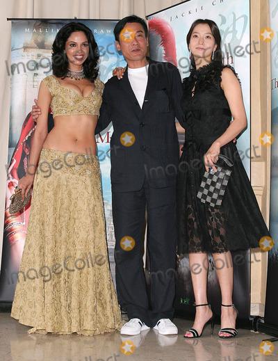 Tony Leung Photo - Cannes France Kim Hee-Seon Tony Leung K Fai and Mallika Sherawat at the photocall for the movie THE MYTH at the Cannes Film Festival17 May 2005Paulo PirezLandmark Media