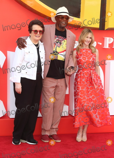 Billie Jean King Photo - London UK Billie Jean-King Samuel L Jackson and Holly Hunter at Incredibles 2 UK film premiere BFI Southbank Belvedere Road London UK on Sunday 08 July 2018Ref LMK73-J2270-090718Keith MayhewLandmark MediaWWWLMKMEDIACOM