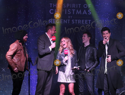 Amanda Holden Photo - London UK Cast of White Christmas  Amanda Holden Jamie Theakston and The Script at Londons Premier Shopping destination Regent Street  annual Christmas Lights Switch On Event Regent Street London on November 14th 2019Ref LMK73-5793-151119Keith MayhewLandmark MediaWWWLMKMEDIACOM