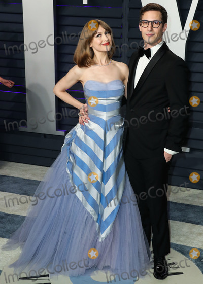 Andy Samberg Photo - BEVERLY HILLS LOS ANGELES CA USA - FEBRUARY 24 Joanna Newsom and husband Andy Samberg arrive at the 2019 Vanity Fair Oscar Party held at the Wallis Annenberg Center for the Performing Arts on February 24 2019 in Beverly Hills Los Angeles California United States (Photo by Xavier CollinImage Press Agency)