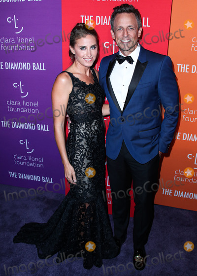 Dolce and Gabbana Photo - MANHATTAN NEW YORK CITY NEW YORK USA - SEPTEMBER 12 Alexi Ashe and Seth Meyers wearing Dolce and Gabbana arrive at Rihannas 5th Annual Diamond Ball Benefitting The Clara Lionel Foundation held at Cipriani Wall Street on September 12 2019 in Manhattan New York City New York United States (Photo by Xavier CollinImage Press Agency)