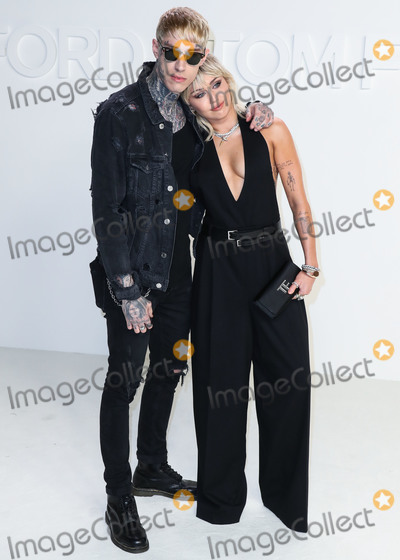 Miley Cyrus Photo - HOLLYWOOD LOS ANGELES CALIFORNIA USA - FEBRUARY 07 Trace Cyrus and Miley Cyrus arrive at the Tom Ford AutumnWinter 2020 Fashion Show held at Milk Studios on February 7 2020 in Hollywood Los Angeles California United States (Photo by Xavier CollinImage Press Agency)
