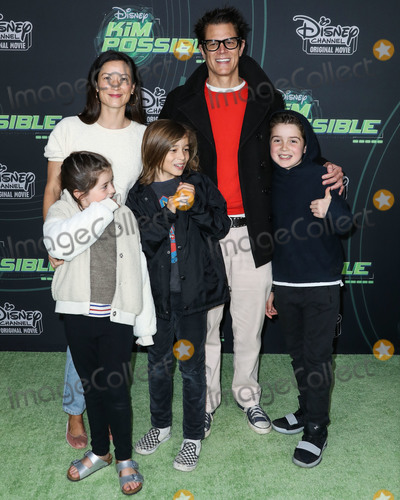 Johnny Knoxville Photo - NORTH HOLLYWOOD LOS ANGELES CA USA - FEBRUARY 12 Naomi Nelson Johnny Knoxville Madison Clapp Rocko Akira Clapp and Arlo Clapp arrive at the Los Angeles Premiere Of Disney Channels Kim Possible held at the Saban Media Center at the Television Academy on February 12 2019 in North Hollywood Los Angeles California United States (Photo by Xavier CollinImage Press Agency)