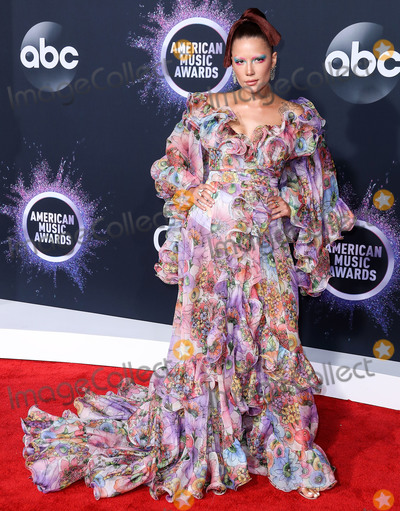 Marc Jacobs Photo - LOS ANGELES CALIFORNIA USA - NOVEMBER 24 Singer Halsey wearing a Marc Jacobs dress with Gianvito Rossi shoes arrives at the 2019 American Music Awards held at Microsoft Theatre LA Live on November 24 2019 in Los Angeles California United States (Photo by Xavier CollinImage Press Agency)