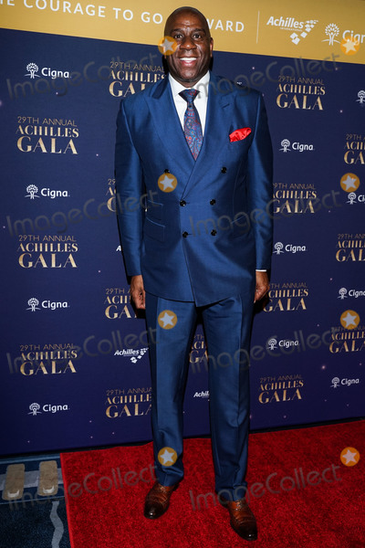 Magic Johnson Photo - MANHATTAN NEW YORK CITY NEW YORK USA - NOVEMBER 20 American basketball player Magic Johnson arrives at the 29th Annual Achilles Gala held at Cipriani South Street on November 20 2019 in Manhattan New York City New York United States (Photo by William PerezImage Press Agency)