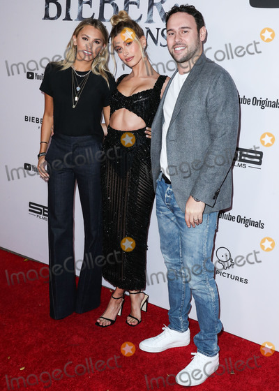 Justin Bieber Photo - WESTWOOD LOS ANGELES CALIFORNIA USA - JANUARY 27 Yael Cohen Hailey Rhode Baldwin Bieber and Scooter Braun arrive at the Los Angeles Premiere Of YouTube Originals Justin Bieber Seasons held at the Regency Bruin Theatre on January 27 2020 in Westwood Los Angeles California United States (Photo by Xavier CollinImage Press Agency)