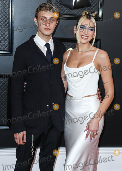 Anwar Hadid Photo - LOS ANGELES CALIFORNIA USA - JANUARY 26 Anwar Hadid and girlfriendsinger Dua Lipa arrive at the 62nd Annual GRAMMY Awards held at Staples Center on January 26 2020 in Los Angeles California United States (Photo by Xavier CollinImage Press Agency)