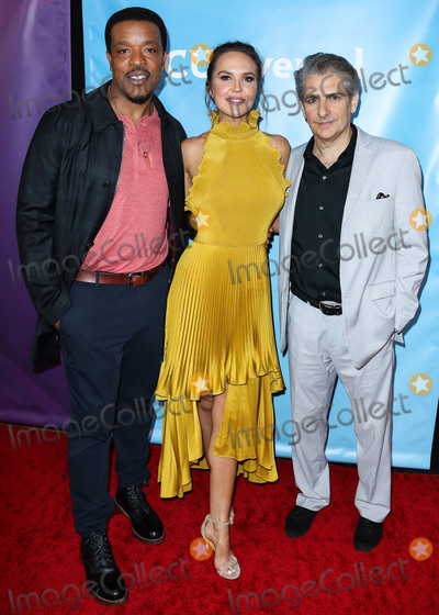 ARIELE KEBBEL Photo - PASADENA LOS ANGELES CALIFORNIA USA - JANUARY 11 Russell Hornsby Arielle Kebbel and Michael Imperioli arrive at the 2020 NBCUniversal Winter TCA Press Tour held at The Langham Huntington Hotel on January 11 2020 in Pasadena Los Angeles California United States (Photo by Xavier CollinImage Press Agency)