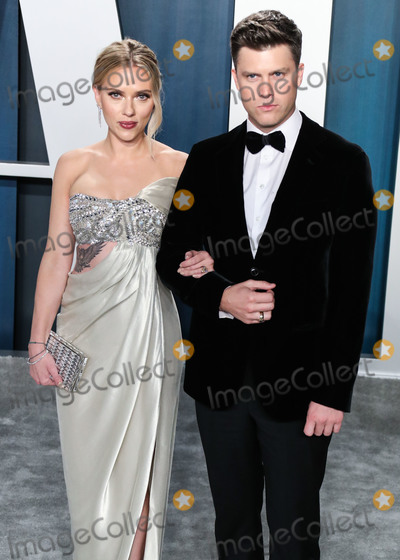 Scarlett Johansson Photo - BEVERLY HILLS LOS ANGELES CALIFORNIA USA - FEBRUARY 09 Scarlett Johansson and Colin Jost arrive at the 2020 Vanity Fair Oscar Party held at the Wallis Annenberg Center for the Performing Arts on February 9 2020 in Beverly Hills Los Angeles California United States (Photo by Xavier CollinImage Press Agency)