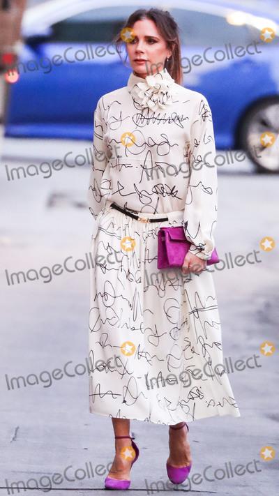 Jimmy Kimmel Photo - HOLLYWOOD LOS ANGELES CALIFORNIA USA - NOVEMBER 19 Victoria Beckham seen at Jimmy Kimmel Live on November 19 2019 in Hollywood Los Angeles California United States (Photo by Xavier CollinImage Press Agency)