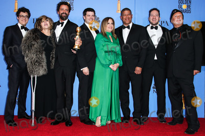 Avi Arad Photo - BEVERLY HILLS LOS ANGELES CA USA - JANUARY 06 Phil Lord Amy Pascal Robert Persichetti Jr Chris Miller Christina Steinberg Peter Ramsey Rodney Rothman and Avi Arad pose in the press room at the 76th Annual Golden Globe Awards held at The Beverly Hilton Hotel on January 6 2019 in Beverly Hills Los Angeles California United States (Xavier CollinImage Press Agency)