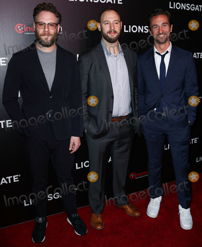 James Weaver Photo - LAS VEGAS NEVADA USA - APRIL 04 Seth Rogen Evan Goldberg and James Weaver arrive at the CinemaCon 2019 - Lionsgate Presentation and Screening of Long Shot held at The Colosseum at Caesars Palace during CinemaCon the official convention of the National Association of Theatre Owners on April 4 2019 in Las Vegas Nevada United States (Photo by Xavier CollinImage Press Agency)