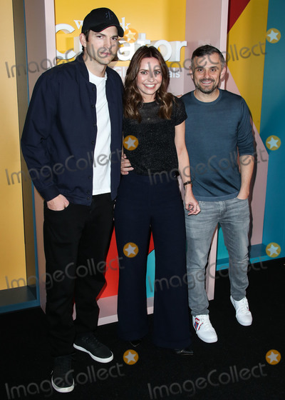 Ashton Kutcher Photo - LOS ANGELES CA USA - JANUARY 09 Actor Ashton Kutcher Kirsten Green and Gary Vaynerchuk arrive at the WeWork Creator Awards Global Finals 2019 held at Microsoft Theatre LA Live on January 9 2019 in Los Angeles California United States (Photo by Xavier CollinImage Press Agency)