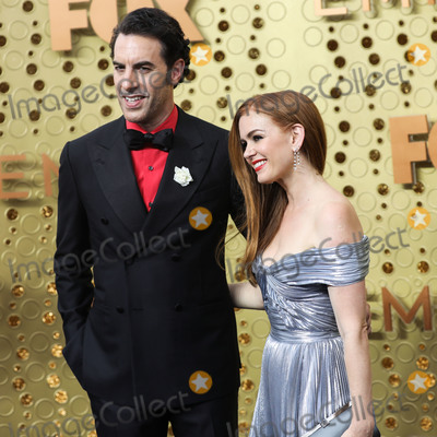 Sacha Baron Cohen Photo - LOS ANGELES CALIFORNIA USA - SEPTEMBER 22 Sacha Baron Cohen and Isla Fisher arrive at the 71st Annual Primetime Emmy Awards held at Microsoft Theater LA Live on September 22 2019 in Los Angeles California United States (Photo by Xavier CollinImage Press Agency)