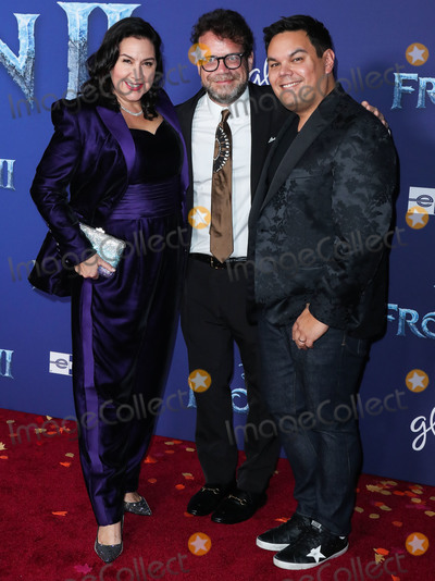 Beck Photo - HOLLYWOOD LOS ANGELES CALIFORNIA USA - NOVEMBER 07 Kristen Anderson-Lopez Christophe Beck and Robert Lopez arrive at the World Premiere Of Disneys Frozen 2 held at the Dolby Theatre on November 7 2019 in Hollywood Los Angeles California United States (Photo by Xavier CollinImage Press Agency)