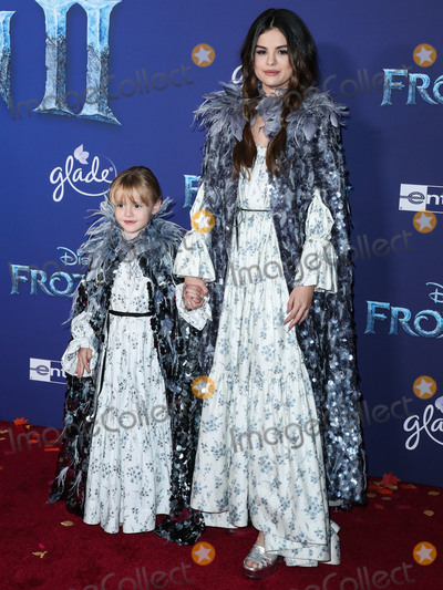 Selena Gomez Photo - HOLLYWOOD LOS ANGELES CALIFORNIA USA - NOVEMBER 07 Gracie Elliot Teefey and sistersinger Selena Gomez both wearing Marc Jacobs arrive at the World Premiere Of Disneys Frozen 2 held at the Dolby Theatre on November 7 2019 in Hollywood Los Angeles California United States (Photo by Xavier CollinImage Press Agency)