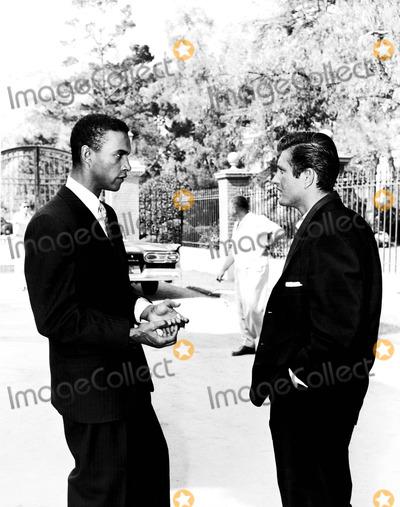 John Drew Barrymore Photo - James Edwards and John Drew Barrymore on the Set of Night of the Quarter Moon 1959 Supplied by SmpGlobe Photos Inc Johndbarrymooreretro
