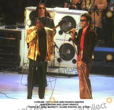 Lenny Kravitz Photo -  Vh1vogue 2000 Fashion Awards James Brown and Lenny Kravitz Photo by John Barrett  Globe Photos Inc G
