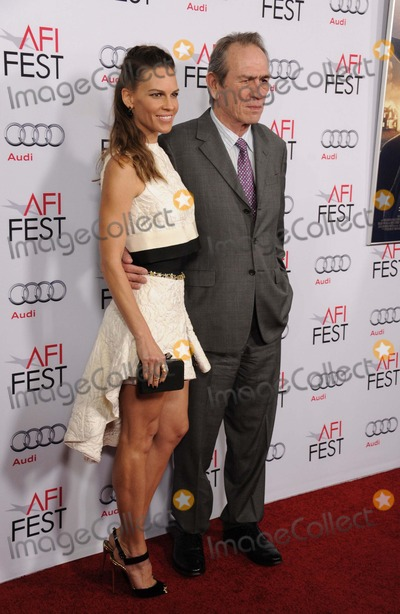Tommy Lee Jones Photo - Hilary Swank Tommy Lee Jones attending the 2014 Afi Fest Gala Screening of the Homesman Held at the Dolby Theatre in Hollywood California on November 11 2014 Photo by D Long- Globe Photos Inc