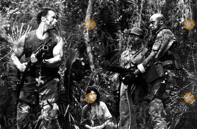 Carl Weathers Photo - Arnold Schwarzegger Elpidia Carrillo Carl Weathers and Bill Duke in  Predator 1987 Supplied by Globe Photos Inc