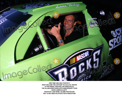 Allman Brothers Photo - One Time Use Only Photo Must Include the Caption nascar Rocks at the Greek Theatre Los Angeles CA the Allman Brothers 30th Anniversary Tour David James Elliott Photo by Lisa RoseGlobe Photos Inc 1999 Not to Be Used As Stock For Syndication