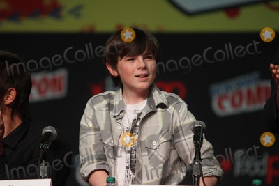 Chandler Riggs Photo - Chandler Riggs Talking About New Season Ofwalking Dead at NY Comic Con at Javit Center 10-13-2012 Photo by John BarrettGlobe Photos