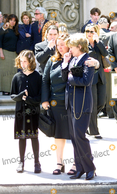 Heather Menzies Photo - WIDOW HEATHER MENZIES CRIES AS CASKET IS PUT INTO FUNERAL CAR EMERIL LAGASSE IS MOVED TO TEARS JOANNA KERNS ON THE RIGHTMEMORIAL SERVICE FOR ACTOR ROBERT URICHST CHARLES CATHOLIC CHURCH  NORTH HOLLYWOOD CAAPRIL 19 2002PHOTO BY NINA PROMMERGLOBE PHOTOS INC2002 K24751NP
