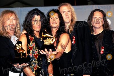 Aerosmith Photo - Sd030194 36th Grammy Awards Radio City Music Hall New York City Aerosmith Photo Sonia Moskowitz  Globe Photos Inc