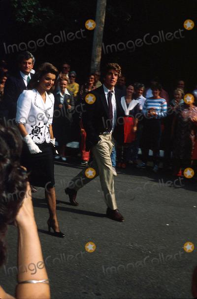 Jacqueline Kennedy Onassis Photo - Jacqueline Kennedy Onassis and John F Kennedy Jr N0887 1983 Photo by Globe Photos Inc Jacquelinekennedyonassisretro