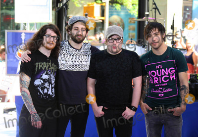 Andrew Hurley Photo - Fall Out Boy on Nbcs Today Show Toyota Concert Series at Rockefeller Plaza in New York City on 05-22-2009 Photo by John Barrett-Globe Photos Inc Andrew Hurley Joseph Trohman Patrick Stump and Pete Wentz of Fall Out Boy