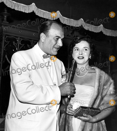 Shirley Temple Black Photo - Larry Finley and Shirley Temple at the Premiere of Roman Holiday 1953 Supplied by Globe Photos Inc