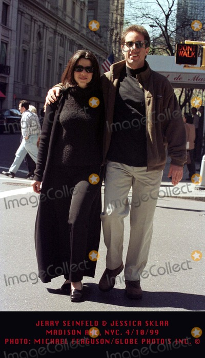 Jerry Seinfeld Photo - 1099 Jerry Seinfeld  Jessica Sklar Madison Ave NYC Photo by Michael FergusonGlobe Photos Inc