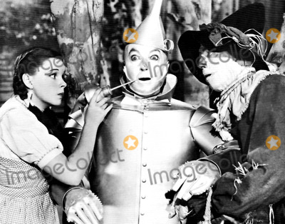 Jack Haley Photo - Judy Garland Jack Haley and Ray Bolger in the Wizard of Oz Supplied by Globe Photos Inc Tvfilm Stills