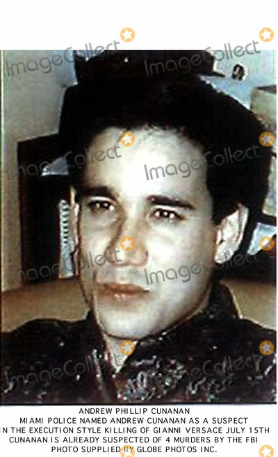 Gianni Versace Photo - WAS100VERSACEMIAMIFLORIDA15JUL97- UNDATED FILE PHOTO - Miami police officials named Andrew Phillip Cunanan (seen in an FBI photo) as a suspect in the execution-style killing of fashion designer Gianni Versace on July 15  Cunanan 27 is one of the FBIs most wanted men and is suspected of four murders including that of his former male lover during a two-week cross-country killing spree rtwHO-FBI REUTERS