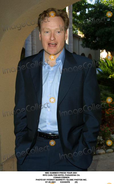 RITZ CARLTON Photo - NBC Summer Press Tour 2001 Ritz Carlton Hotel Pasadena CA Conan Obrien Photo by Fitzroy Barrett  Globe Photos Inc 7-20-2001 K22494fb (D)