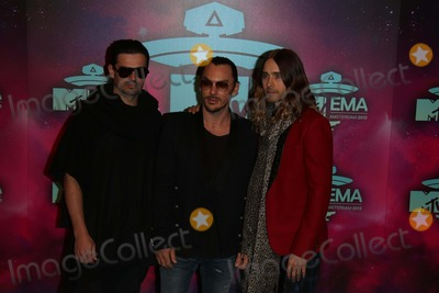 Tomo Milicevic Photo - Tomo Milicevic (l-r) Shannon Leto and Jared Leto of Thirty Seconds to Mars Arrive at the 2013 Mtv Emas Aka Mtv Europe Music Awards at Ziggo Dome in Amsterdam Netherlands on 10 November 2013 Photo Alec Michael