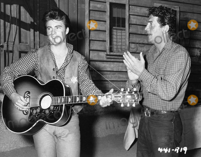 Dean Martin Photo - Rick Nelson with Dean Martin on the Set of Rio bravophoto by smp-globe Photos Inc